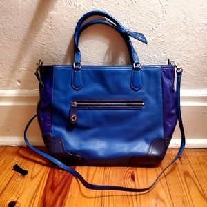 LIKE NEW Royal Blue AUTHENTIC COACH Leather Bag